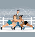 funny situation in the ring vector image vector image