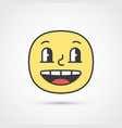 glad emoji face with big eyes eps10 vector image