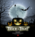 Halloween trick or treat pumpkin vector image vector image