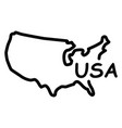 hand-drawn map of the united states of america vector image vector image