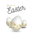 Happy easter with easter eggs vector image