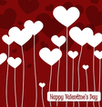 Happy valentines day cards with hearts1 vector image