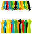 helping hand concept adults care about children vector image