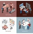 Law System Isometric Concept vector image vector image