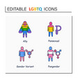 lgbtq collections line icons