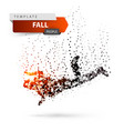 man falls and jumps - color dot vector image vector image