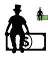 man silhouette sitting on dollar vector image
