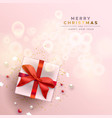 merry christmas gift holiday decoration card vector image