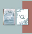 mothers day pastel card with classic sketch vector image vector image