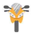 motorcycle flat icon transport and vehicle vector image