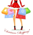Mrs Claus carrying shopping bags