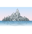 nature mountain view with river vector image vector image