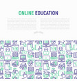 online education concept with thin line icons vector image vector image