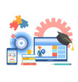 online learning distance education courses vector image vector image