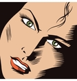 People in retro style pop Girl face vector image vector image