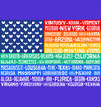 poster rainbow united states america flag vector image