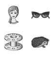 profession travel and other monochrome icon in vector image vector image