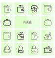 purse icons vector image vector image