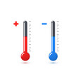 red and blue mercury thermometers vector image