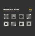 set eight minimalistic trendy shapes stylish vector image