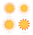 Set of abstract suns vector image