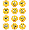 set of happy smile laughing joyful sad angry and vector image