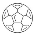 soccer ball thin line icon sport and equipment vector image vector image