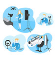 software for video blogger filming media content vector image vector image