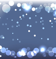 sparkling blue background vector image vector image