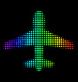 spectrum dot airplane icon vector image vector image