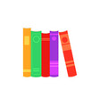 stack of closed paper books with colorful cover vector image vector image