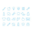 stomatology icons dental teeth protection vector image