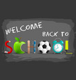 stylish back to school background vector image vector image