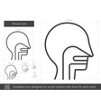 throat line icon vector image