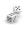 Two white dices casino icon