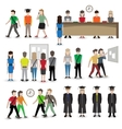 University people avatars vector image