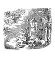 vintage drawing biblical story angel vector image vector image