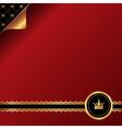 Vintage red background with golden ornamental vector image