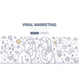 Viral Marketing Doodle Concept vector image vector image