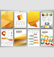 yellow business backgrounds and abstract concept vector image vector image