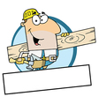 Caucasian Painter Over A Blank Box vector image