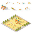 children playground isometric icon set vector image