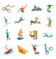 Extreme Sports Icons vector image