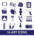 art icons set eps10 vector image vector image