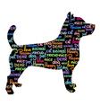 Art pet dog vector image