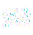 artistic confetti pattern vector image vector image