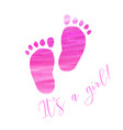 baby gender reveal footprints vector image vector image