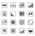 big data icons set diagram graphs vector image