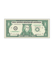bill one dollar banknot american paper money vector image