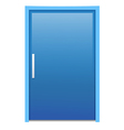 Blue door vector image vector image